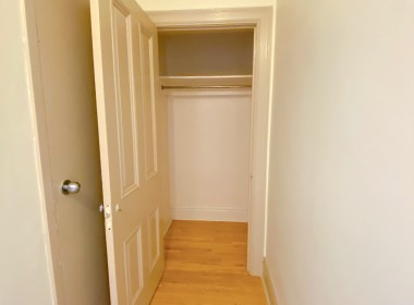 Closet, 2 Bedroom Apartment, 116, North George Street